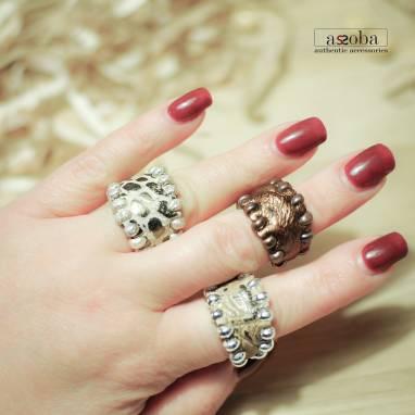 кольцо из натуральной кожи ручной работы
