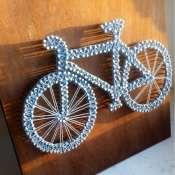 Велосипед в технике стринг арт