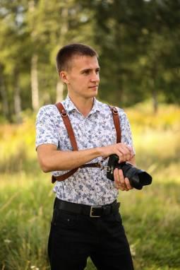 Разгрузка фотографа из кожи на 2 камеры ручной работы