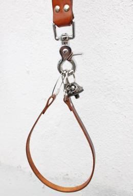 Разгрузка фотографа кожаная на 2 камеры (walnut) ручной работы