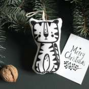 Текстильная игрушка на елку Тигр