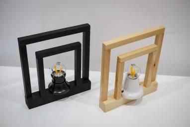 Светильник настольный (натуральный цвет дерева) ручной работы