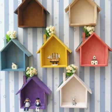 детские полочки-домики(скворечники) ручной работы