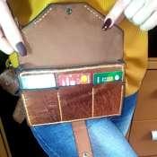 Женская кожанная сумочка на ремне