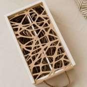 Коробка для вина деревянная с ажурной крышкой