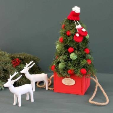 Новогодняя елочка декоративная ручной работы