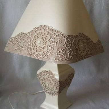 Лампа настольная ручной работы