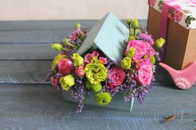 Цветы на 8 марта ручной работы