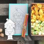 Новогодний подарок с конфетами для детей