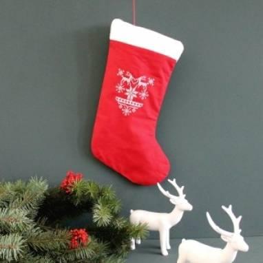 Сапожок рождественский на камин ручной работы
