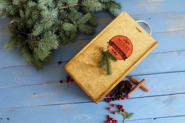 Подарочный набор в деревянной коробке ручной работы