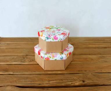 Коробки в форме ромба ручной работы