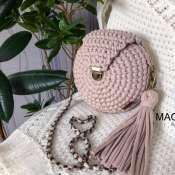 Круглая сумка в цвете Айвори