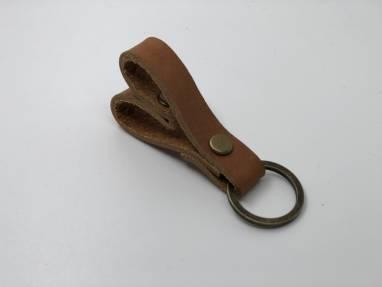 Брелок для ключей из натуральной кожи  - Сердце (маленькое) ручной работы