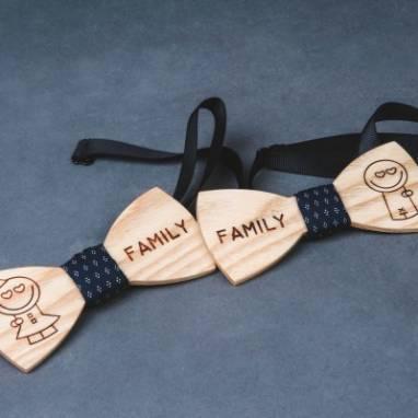 галстук бабочки из дерева ручной работы