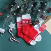 Носки новогодние с узорами