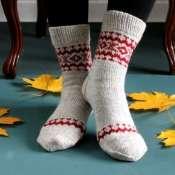 Носки вязанные мужские с узором