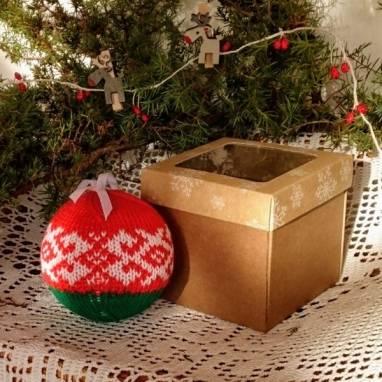 Подарок Шар на ёлку Белорусский сувенир ручной работы