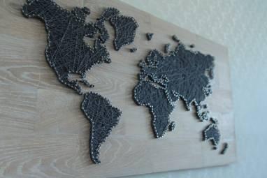 """Панно """"Карта"""" ручной работы"""