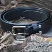 Ремень кожаный Urho (black)