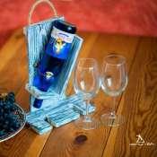 Полка для бокалов и вина