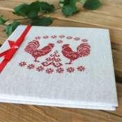 фотоальбом в белорусском стиле с вышивкой