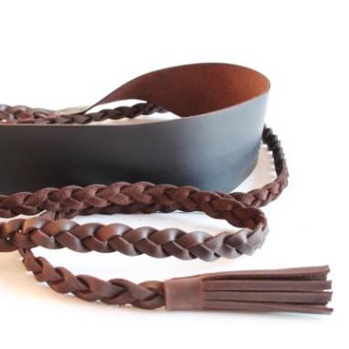 Пояс кожаный Inkeri ручной работы