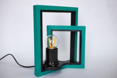 """Настольный светильник """"Смещенные квадраты -2"""" ручной работы"""