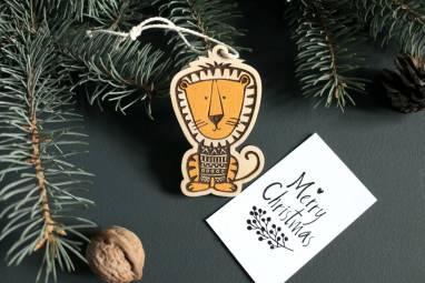 Деревянная игрушка Тигр символ года 2022 ручной работы