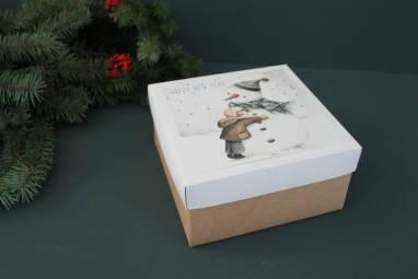 Красивая коробка к новому году ручной работы