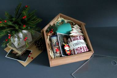 Подарочный VIP набор к Новому году ручной работы