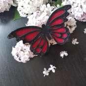 Брошь бабочка из натуральной кожи