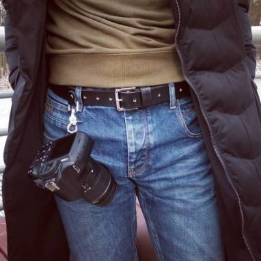 Ремень кожаный для фотографа ручной работы