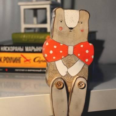 Игрушка деревянная Мишка ручной работы