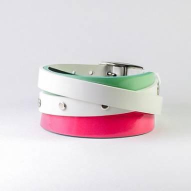 Кожаный браслет BrightBand ручной работы