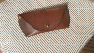 Футляр кожаный (walnut) ручной работы