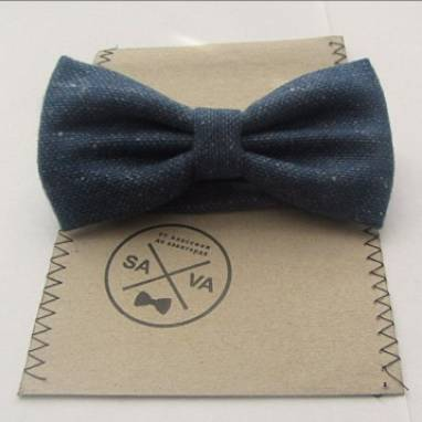 Плотный галстук-бабочка ручной работы