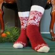 Носки с оленями новогодние женские