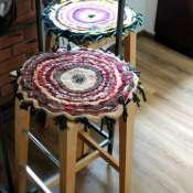 коврик на табурет трикотажный