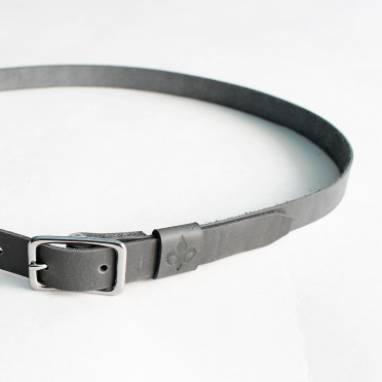 Ремень кожаный (grey) ручной работы