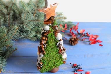 декоративная новогодняя елка ручной работы
