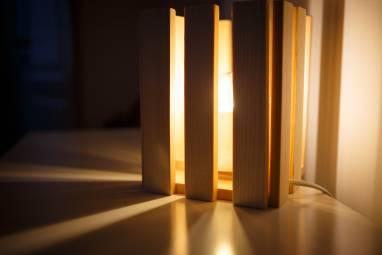 """Светильник из дерева """"Костёр"""" ручной работы"""