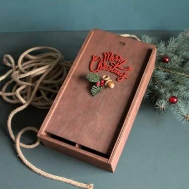 Деревянная коробка для глинтвейна ручной работы