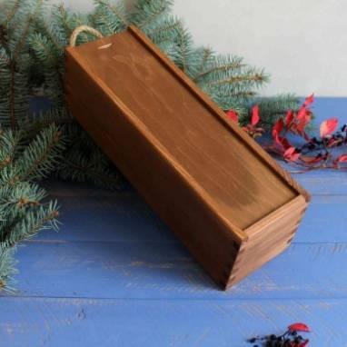 Деревянная коробка на 1 бутылку вина ручной работы