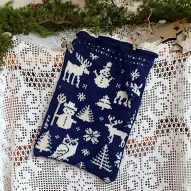 Подарок на Рождество, Новый Год. Мешочек для конфет  ручной работы