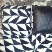 подушка декоративная из овчины