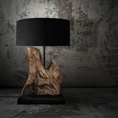 "Table lamp ""Wooden fragment"" #20 ручной работы"
