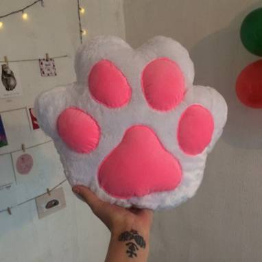Мягкая игрушка подушка Лапка кота Cat Paw ручной работы