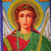Икона  Бисером Святой Ангел Хранитель
