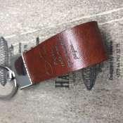 Брелок для ключей из натуральной кожи  -  Береги себя когда нет меня рядом...